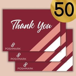 Other - Poshmark Thank You Cards 50 Count